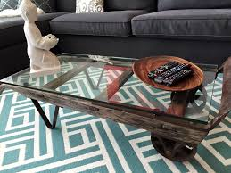 antique dolly with glass top diy