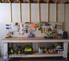 how to hang a pegboard without drilling
