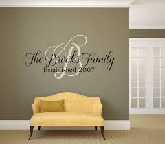 Family Name Monogram And Established Year Vinyl Wall Decal V2 Airetgraphics