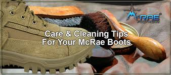 cleaning tips for your mcrae military boots