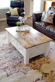 how to build a farmhouse coffee table