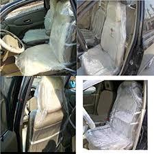 100 pcs plastic car seat covers