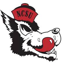 Nc State Wolfpack Slobbering Wolf Vault Collection Vinyl Decal Red And White Shop