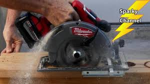 How To Use A Rip Fence Guide Kit On A Circular Saw Milwaukee Dewalt Skilsaw Etc Sparky Channel Videos