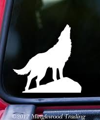 Howling Wolf Vinyl Decal Sticker 5 X 5 Animal Spirit Coyote Minglewood Trading