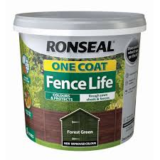 Ronseal One Coat Fence Life Forest Green Matt Fence Shed Wood Treatment 5l Departments Diy At B Q