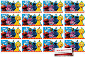 Amazon Com 16 Invitaciones De Postal De Sesame Street Para