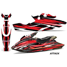 Amazon Com Amr Racing Jet Ski Graphics Kit Sticker Decal Compatible With Sea Doo Gsx Limited 1996 1999 Inline Red Black Automotive