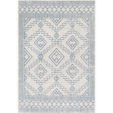 yoni outdoor rug blue white
