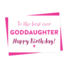 birthday card for goddaughter birthday card a is for alphabet