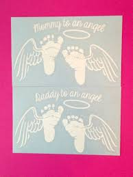 Angel Baby Memorial Decal Mommy Or Daddy To An Angel Angel Etsy Angel Baby Memorial Vinyl Decals Baby Memories
