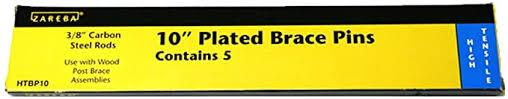 Amazon Com Zareba Htbp10 10 Inch Galvanized Brace Pin Hardware Braces Home Improvement