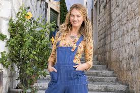 Mamma Mia 2: Lily James fashion in Here We Go Again