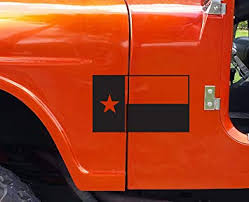 Amazon Com Texas Flag Vinyl Decal Matte Black 0121 Automotive