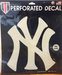 New York Yankees Perforated Window Decal 12 12 Property Room