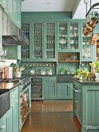 glass kitchen cabinets images