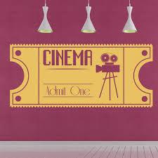 Cinema Ticket Vintage Movie Wall Sticker Ws 44257 Ebay