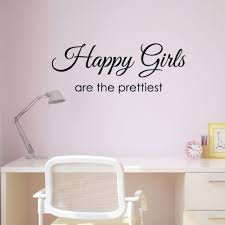 Happy Girls Are The Prettiest Wall Sticker Inspirational Quote Wall Art Ebay Wall Stickers Bedroom Girls Wall Decals Teenage Room Decor