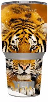 Amazon Com Skin Decal Vinyl Wrap For Yeti 30 Oz Rambler Tumbler Siberian Tiger Kitchen Dining