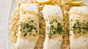 Braised Halibut with Leeks and Mustard ...