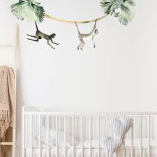 Cute Jungle Monkey Wall Stickers For Happy Kids Rooms Made Of Sundays