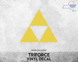 Legend Of Zelda Triforce Vinyl Decal Etsy