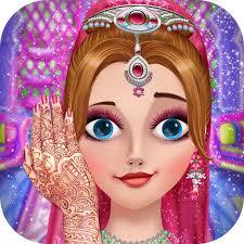 free indian bride makeup game