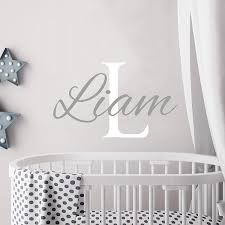 Personalized Boy Name Wall Decal Initial Boys Name Decals Nursery Decor Baby Boy Wall Decal Name Decal Boys Boys Wall Decals Baby Boys Wall Baby Wall Decor Boy