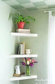 floating corner shelves bathroom