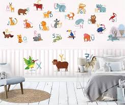 Custom Size 3d Photo Wallpaper Kids Room Mural Cartoon Animal English Letter 3d Picture Sofa Tv Background Wall Wallpaper Non Woven Sticker Hd Hd Wallpapers Hd High Quality Wallpapers From Wnfq3188 11 82