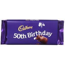 cadbury 50th birthday 110g dairy milk