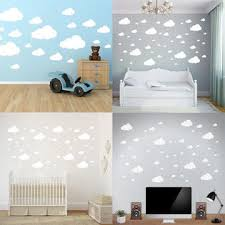 Hot Sale 3 Colors Wall Decor Stickers Cloud Wall Stickers Children Bedroom Nursery Wall Decal Home Decoration