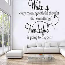 Wake Up Wonderful Sticker Wall Decal Removable Craft Art Vinyl Mural Home Decor Ebay