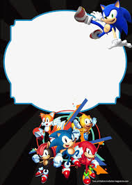 Pin En Invitaciones Cumple Sonic