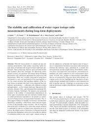 PDF) The stability and calibration of water vapor isotope ratio  measurements during long-term deployments
