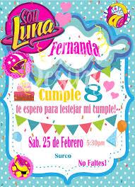 Soy Luna Invitation Soy Luna Birthday Soy Luna Invitacion Soy