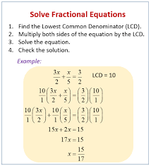 fractional equations examples
