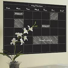 Wallies Monthly Calendar Chalkboard Wall Decal Reviews Wayfair
