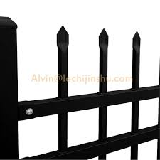 China Hot Galvanized Steel Commercial Car Parking Laser Cut Perforated Black Privacy Vinyl Fence For House Garden Villa Pool Decoration Privacy China Railing Cast Iron Fence