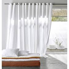 lined blackout curtain in washed linen