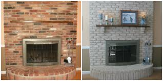 painting brick fireplace for natural