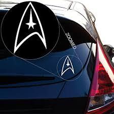 Amazon Com Yoonek Graphics Star Trek Decal Sticker For Car Window Laptop And More 519 4 Automotive