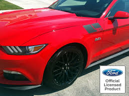 2015 2019 Ford Mustang Fender Hash Stripes 302 Style Vinyl Decal Rocky Mountain Graphics