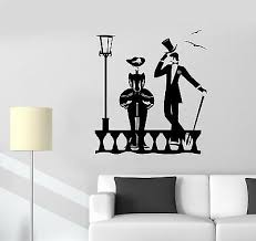3132ig Vinyl Wall Decal Gentleman Lady Skull Man And Woman Stickers