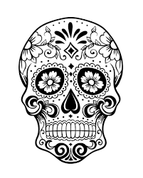 Coloring Pages Sugar Skull For Kids Day Of The History And Free Skulls Designs Girls Dialogueeurope