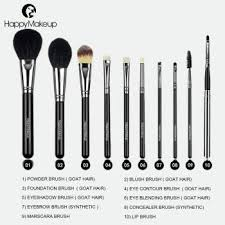 synthetic makeup brush set msia