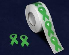 Green Ribbon Stickers Decals Fundraising For A Cause