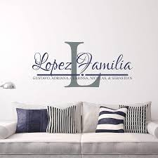 Amazon Com Family Name Decal Last Name Decal Personalized Name Wall Decal Est Year Monogram Handmade