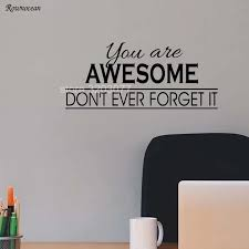You Are Awesome Wall Decal Inspirational Quotes Decal Motivational Vinyl Wall Sticker Art Vinyl Living Room Decor Diy H520 Room Decoration Wall Decalsvinyl Wall Stickers Aliexpress