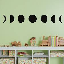 Celestial Moon Phases Wall Decals Removable Vinyl Wall Stickers 7 Phases Of The Moon Moon Wall Decal Vinyl Wall Stickers Moon Wall Art